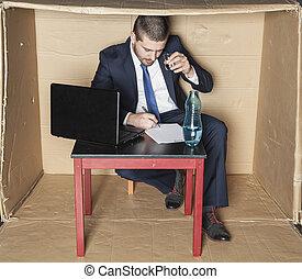 契約, 飲むこと, アルコール, 署名される, ビジネスマン