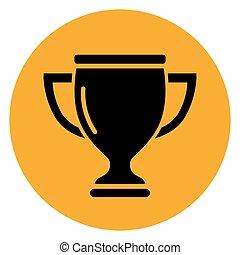 奖杯, 环绕, 概念, 图标
