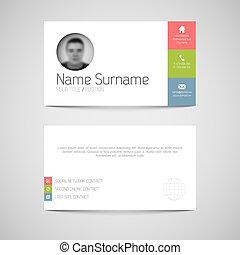 套間, 事務, 現代, 用戶, 樣板, 接口, 卡片