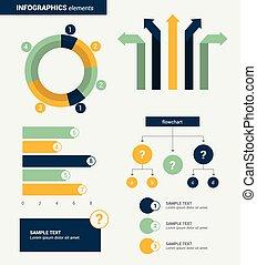 套間, 元素,  Minimalistic, 矢量,  infographics, 設計