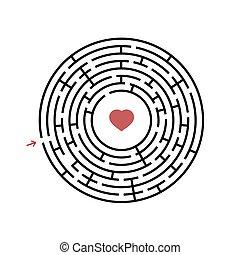 套間, 入口, 有用, 背景。, 迷宮, 有趣味, 被隔离, 插圖, 簡單, 游戲, 矢量, 黑色, children., 白色, exit., 輪