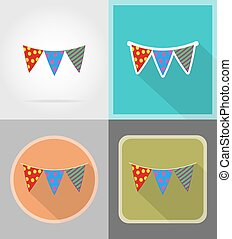 套間, 圖象, 插圖, 矢量, 旗, 慶祝