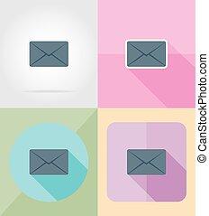 套間, 圖象, 插圖, 矢量, 設計, 信, 郵件