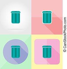 套間, 圖象, 插圖, 矢量, 設計, 罐頭, 垃圾