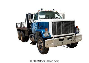 套間, 床, 卡車, 前面, 角度, 被隔离
