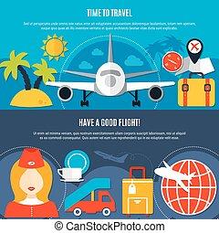 套間, 旅行, 航空公司, 空氣, 2, 旗幟
