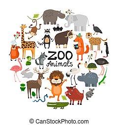 套間, 概念, 動物, 輪, 動物園