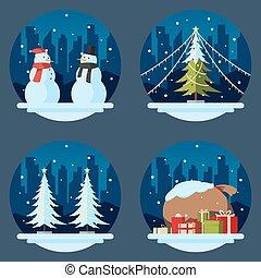 套間, 設計, 圣誕節裝飾, 填塞
