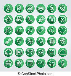 套間, 集合, 网絡, 圖象, 社會, 輪