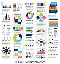 套間, 集合,  mega, 圖表, 圖表, 圖, 氣泡, 元素, 演說, 矢量,  infographics, 環繞,  3D, 設計