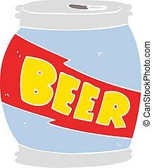 套間, 顏色, 插圖, 啤酒能, 卡通