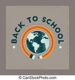 套間, 風格, 全球, 學校, 背, 發暗, 圖象
