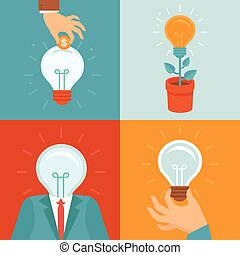 套間, 風格, 矢量, 想法, 概念
