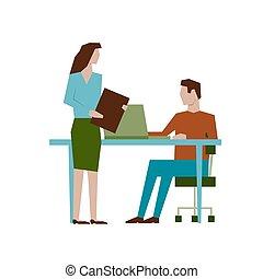 套间, 会议, 风格, 概念, design., 长方形