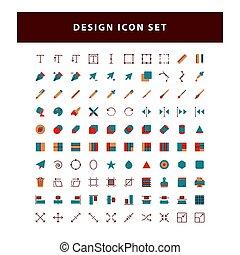 套间, 图标, 设计, 矢量, 编辑, 风格, 放置