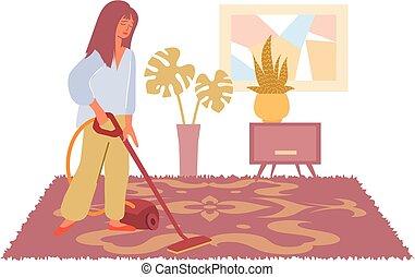 套间, 描述, 打扫, 地毯