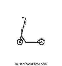 套间, 矢量, icon., design., 描述, 小摩托车, 电