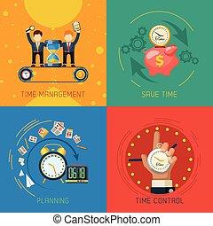 套间, 管理, 图标, 广场, 时间, 作品