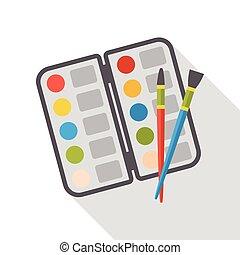 套间, 调色板, 艺术, 图标