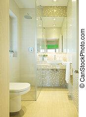 奢侈, 洗手间, 在中, 现代, 住处