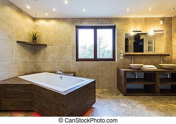 奢侈, 浴室, 在中, 美丽, 住处