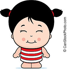 女の子の微笑