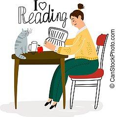 女の子の読書, アイコン