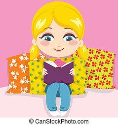女の子の読書, 本