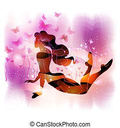 女の子, あること, love-flower