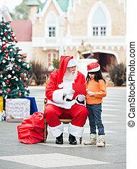 女の子, そして, サンタクロース, ∥で∥, 願い, 手紙
