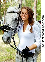 女の子, そして, 馬