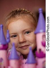 女の子, ∥で∥, おもちゃ, 城