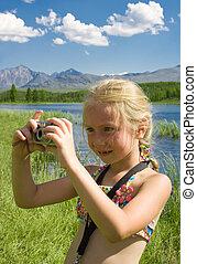 女の子, ∥で∥, カメラ