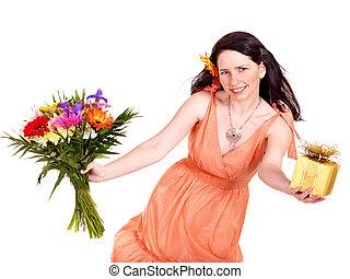 女の子, ∥で∥, 春の花, そして, 贈り物, box.