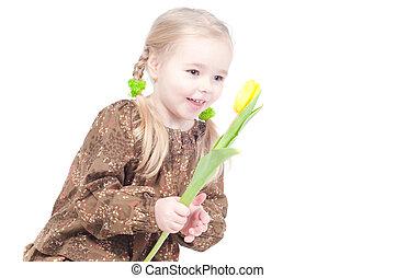 女の子, ∥で∥, 花