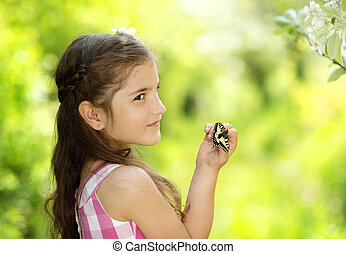 女の子, ∥で∥, 蝶