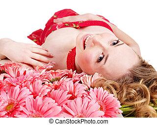 女の子, ∥で∥, flower.