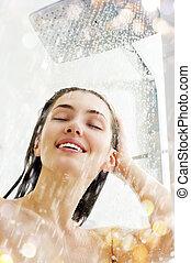 女の子, ∥において∥, ∥, シャワー