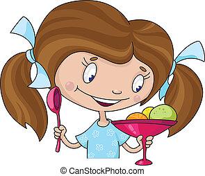 女の子, アイスクリーム