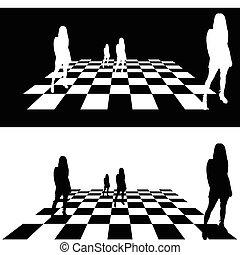 女の子, イラスト, 作戦
