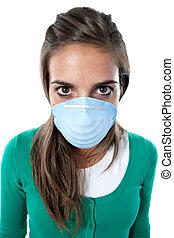 女の子, インフルエンザ, infected, ゆがめられた