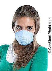 女の子, インフルエンザ, infected