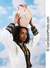 女の子, エチオピア, 水差し