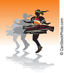 女の子, ダンス, 伝統的である