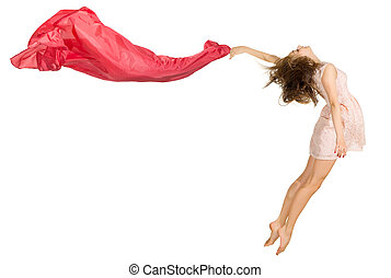 女の子, ダンス, 隔離された, 若い