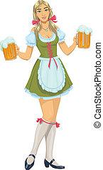 女の子, ビール