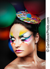 女の子, ファッション, balloon