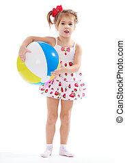 女の子, ボール