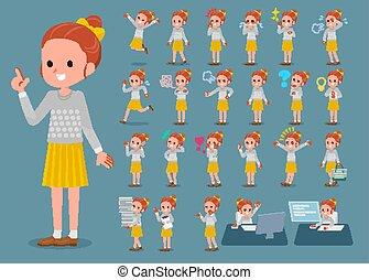 女の子, リボン, 点, 1, 平ら, タイプ, ポルカ, 衣服