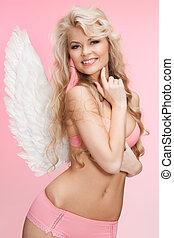 女の子, 下着, 天使翼